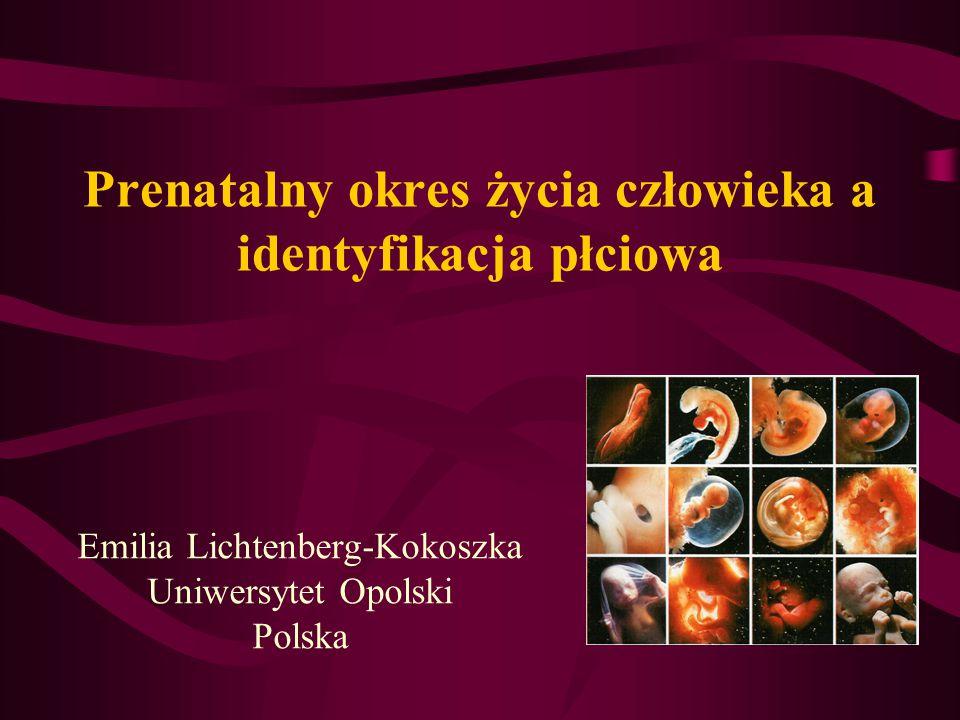 Prenatalny okres życia człowieka a identyfikacja płciowa Emilia Lichtenberg-Kokoszka Uniwersytet Opolski Polska
