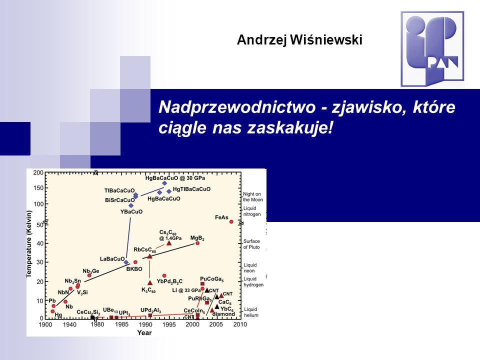 Nadprzewodnictwo - zjawisko, które ciągle nas zaskakuje! Andrzej Wiśniewski