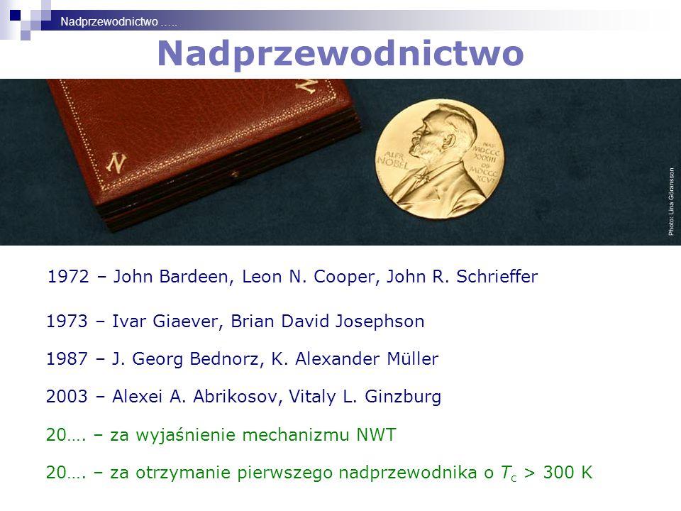 Nadprzewodnictwo 1972 – John Bardeen, Leon N.Cooper, John R.