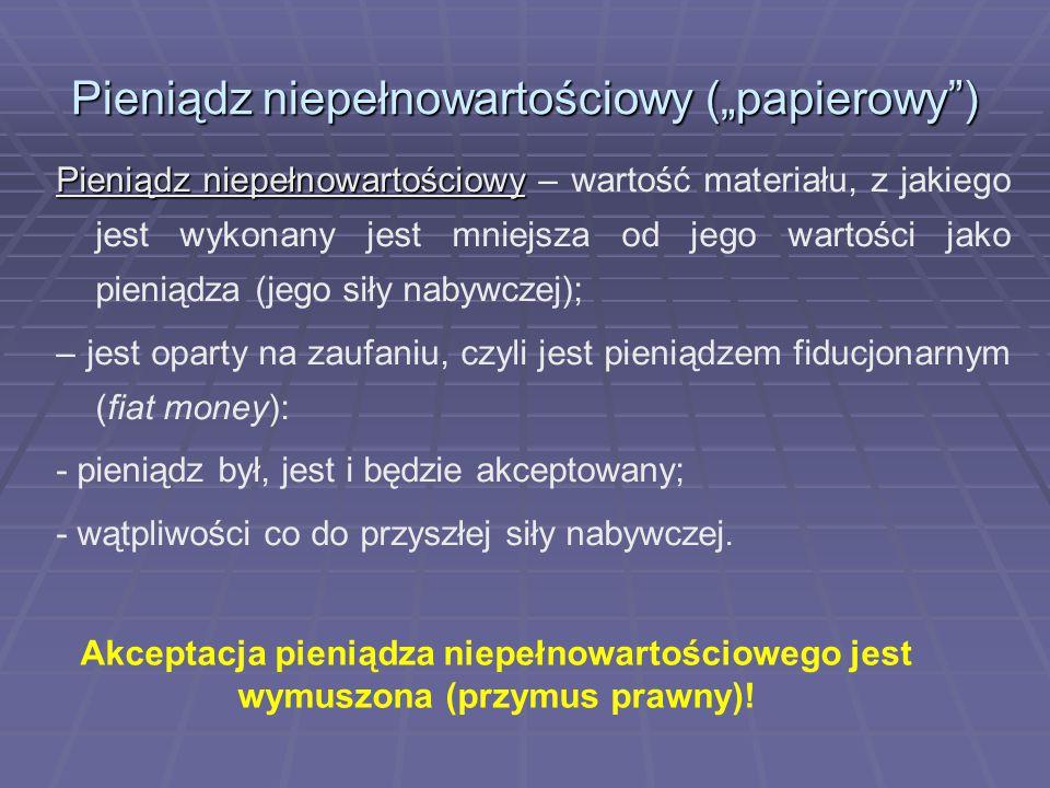 Instrumenty polityki pieniężnej cd.
