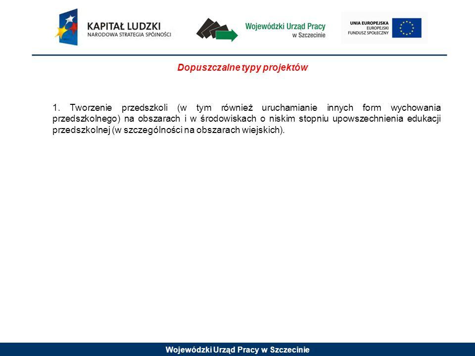 Wojewódzki Urząd Pracy w Szczecinie Konkurs nr 1/9.3/10 jest konkursem zamkniętym W konkursie zamkniętym określa się z góry jeden określony termin naboru wniosków.
