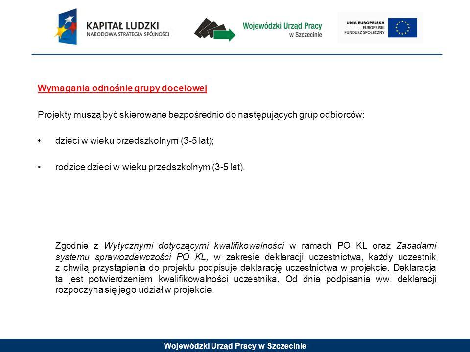 Wojewódzki Urząd Pracy w Szczecinie Alokacja 8 000 000,00 zł W tym: -wsparcie finansowe EFS: 6 800 000,00 zł -wsparcie finansowe krajowe: 1 200 000,00 zł
