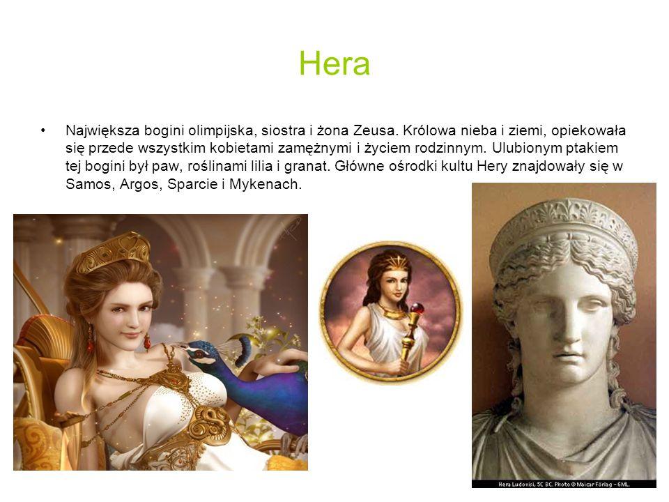 Atena Córka Zeusa i Metis (bogini rozwagi).