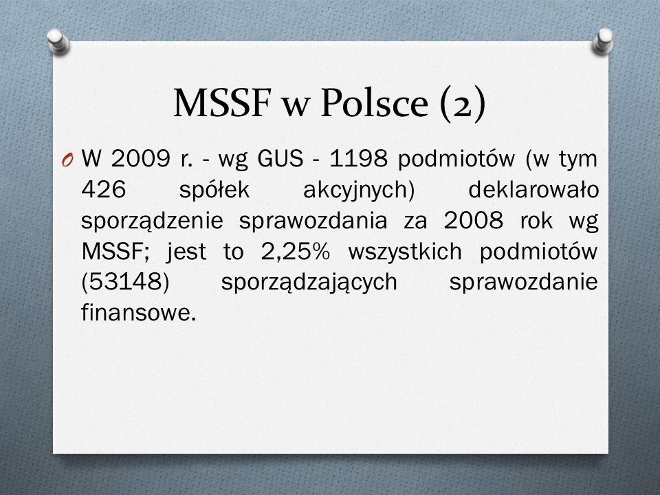MSSF w Polsce (2) O W 2009 r.