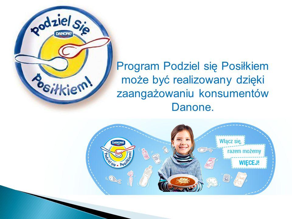 Program Podziel się Posiłkiem może być realizowany dzięki zaangażowaniu konsumentów Danone.