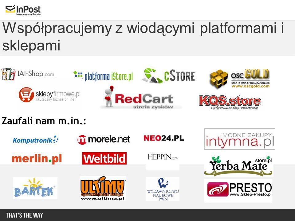 Współpracujemy z wiodącymi platformami i sklepami Zaufali nam m.in.:
