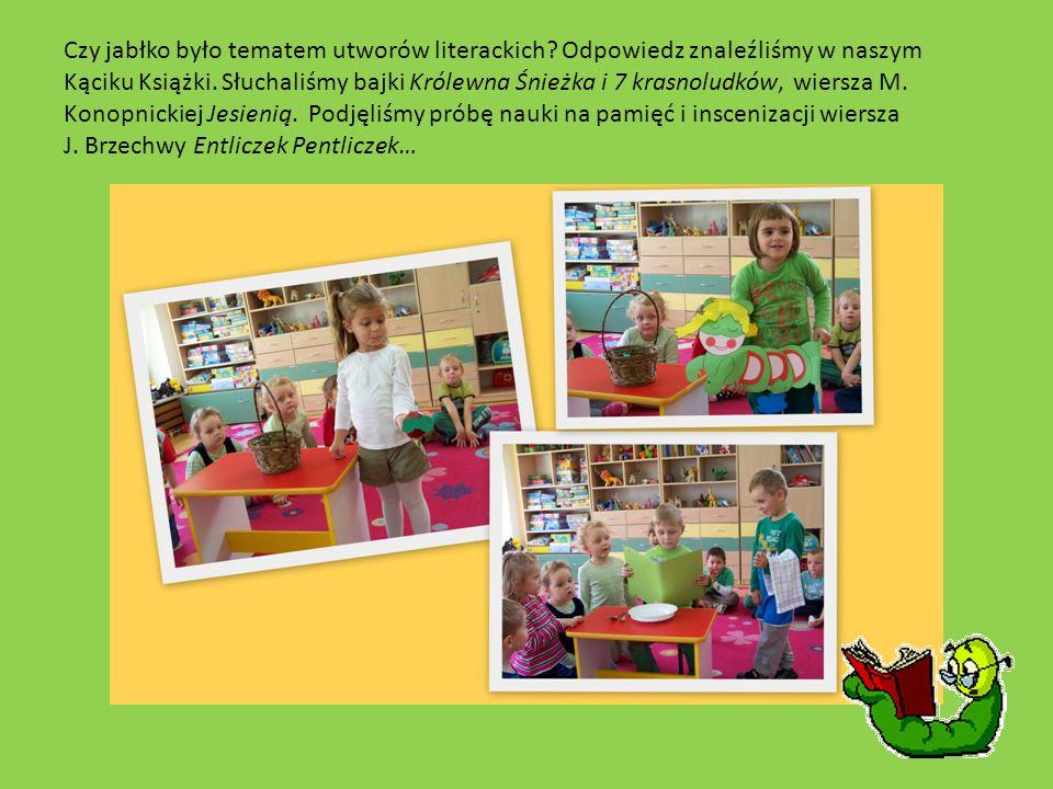 Czy jabłko było tematem utworów literackich.Odpowiedz znaleźliśmy w naszym Kąciku Książki.