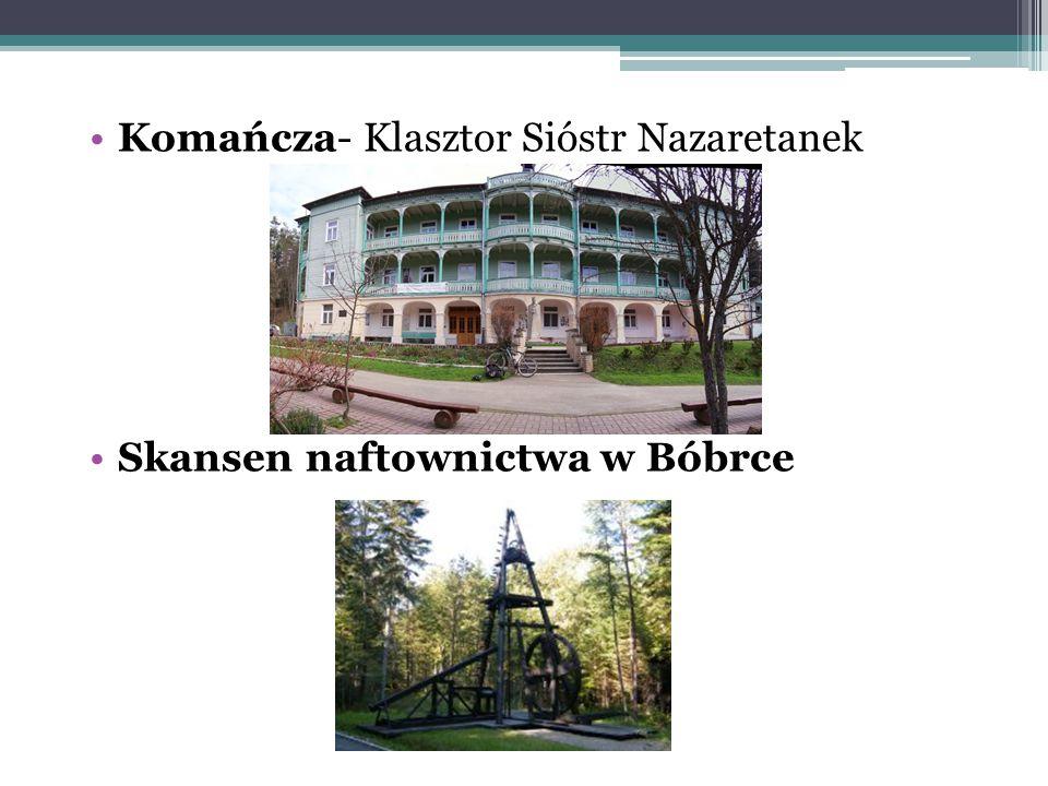 Komańcza- Klasztor Sióstr Nazaretanek Skansen naftownictwa w Bóbrce