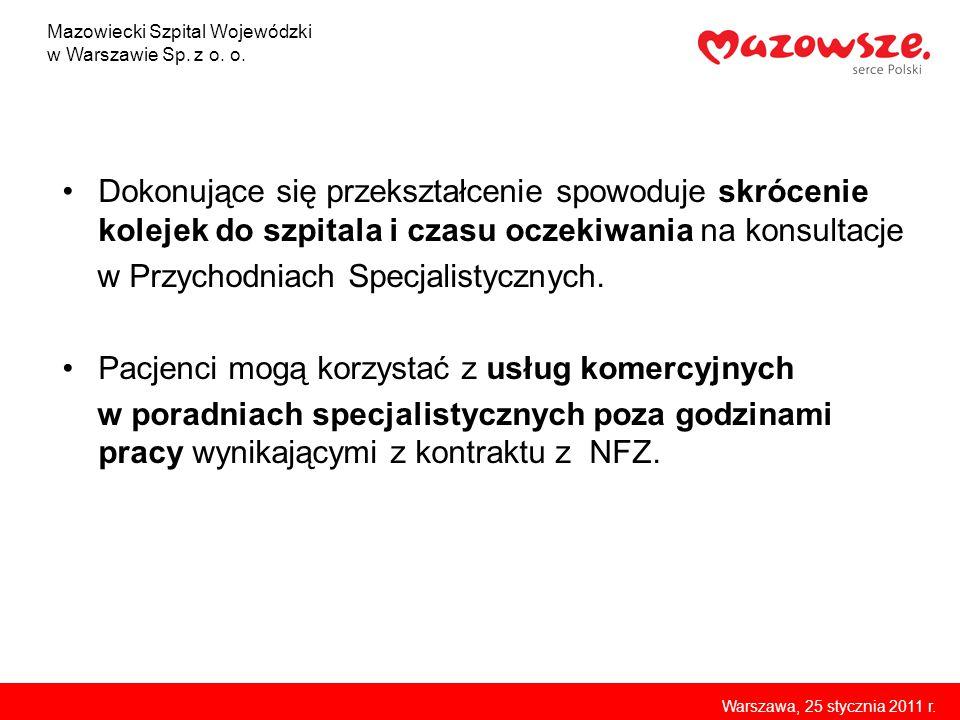Kryty podjazd dla karetek Szpitalnego Oddziału Ratunkowego Mazowiecki Szpital Wojewódzki w Warszawie Sp.