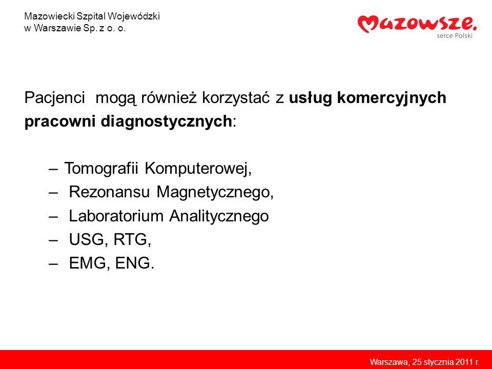 Zakład Diagnostyki Ultrasonograficznej i Mammografii Mazowiecki Szpital Wojewódzki w Warszawie Sp.