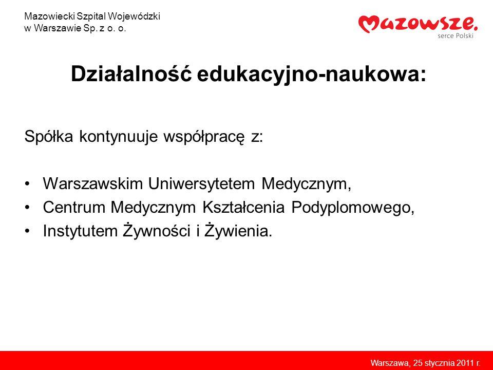 Zakład RTG i Tomografii Komputerowej Mazowiecki Szpital Wojewódzki w Warszawie Sp.