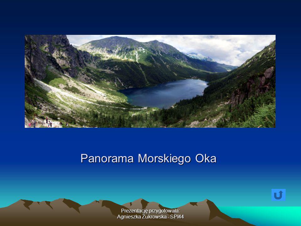 Prezentację przygotowała: Agnieszka Żukrowska - SPI44 Panorama Morskiego Oka