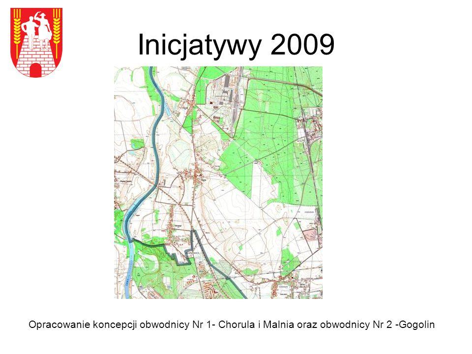 Inicjatywy 2009 Opracowanie koncepcji obwodnicy Nr 1- Chorula i Malnia oraz obwodnicy Nr 2 -Gogolin