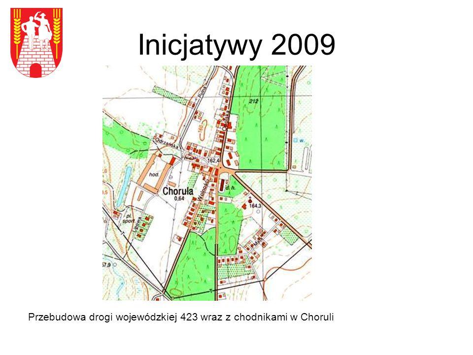 Inicjatywy 2009 Przebudowa drogi wojewódzkiej 423 wraz z chodnikami w Choruli