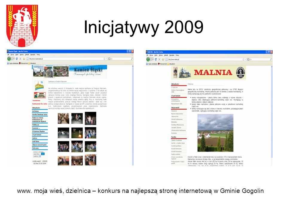Inicjatywy 2009 Monografia przemysłu wapienniczego na terenie Gminy Gogolin.