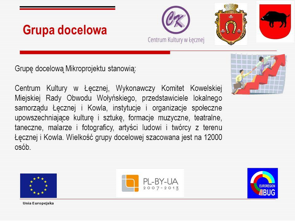 Końcowi beneficjenci Końcowymi beneficjentami Mikroprojektu są: mieszkańcy Gminy Łęczna, Miasta Kowel i regionu przygranicznego; przedsiębiorcy działający na terenie Łęcznej i Kowla oraz podmioty prowadzące działalność gospodarczą na obszarze przygranicznym, a także oraz turyści i wszystkie osoby z zewnątrz odwiedzające oba miasta, w osoby tym z zagranicy.