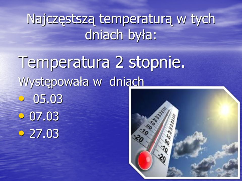 Porównanie temperatury sprawdzalnej na termometrze i w Internecie: