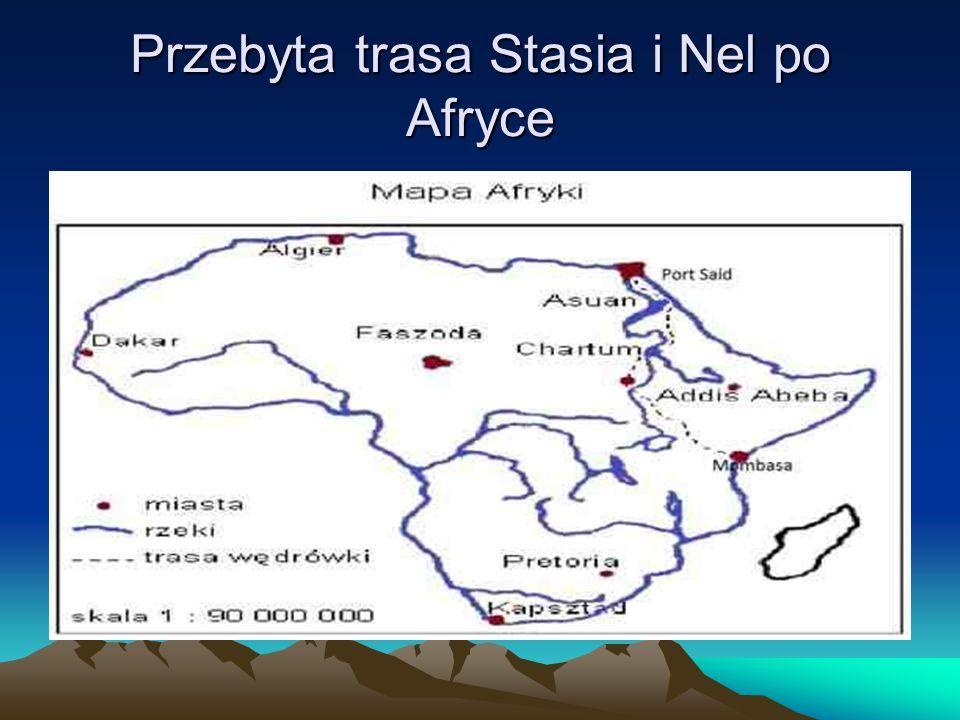 Przebyta trasa Stasia i Nel po Afryce