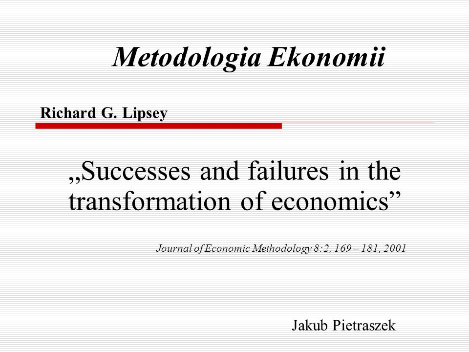 Metodologia Ekonomii Richard G.