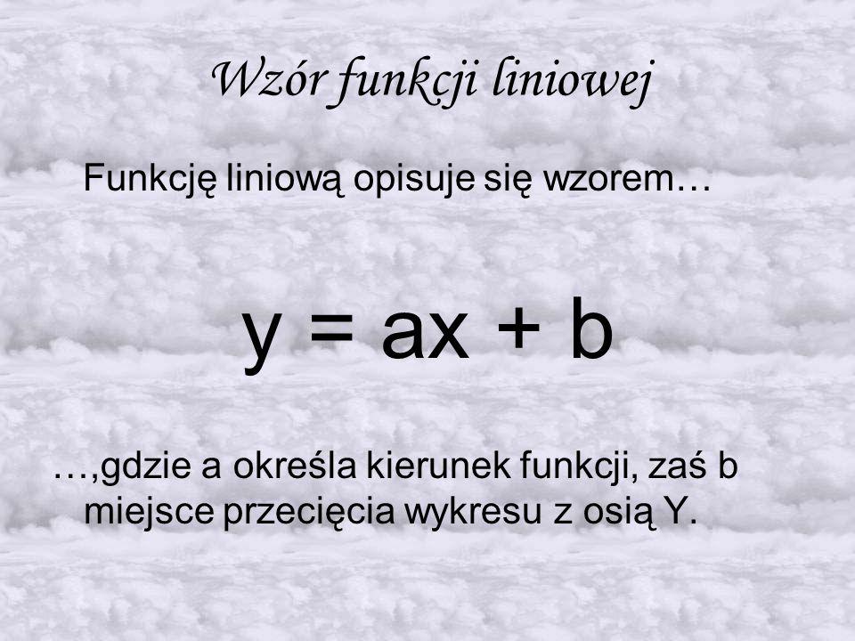 """Funkcja malejąca Przykład: Funkcja y=ax+b jest MALEJĄCA, gdy """"a jest mniejsze od zera a < 0"""
