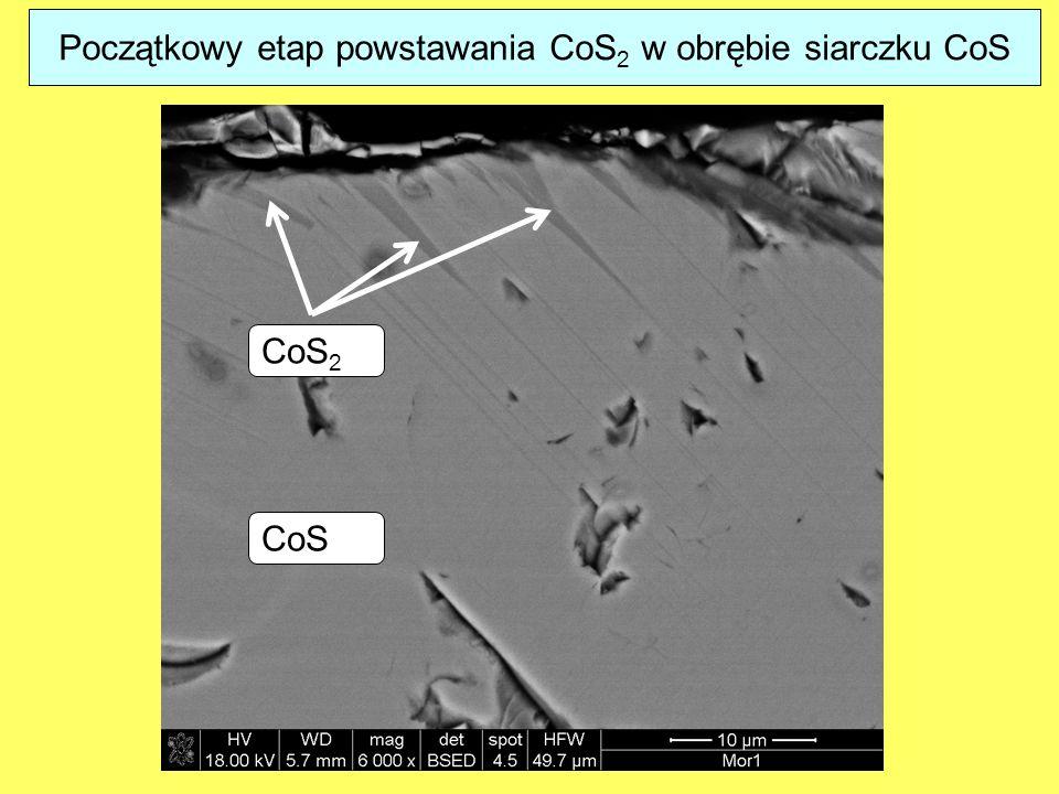 Początkowy etap powstawania CoS 2 w obrębie siarczku CoS CoS 2 CoS