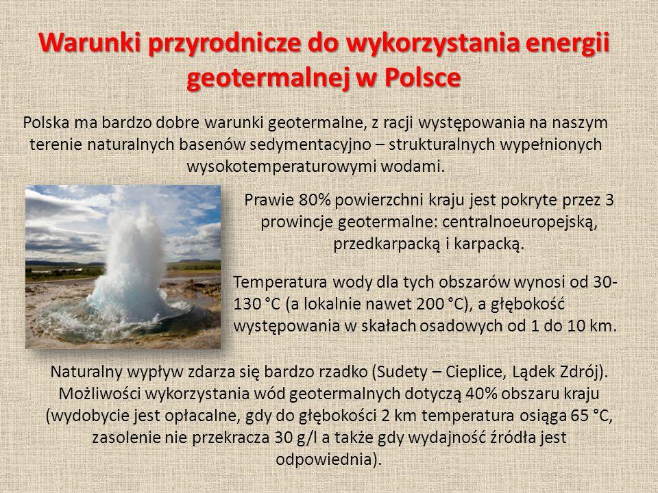 Naturalny wypływ zdarza się bardzo rzadko (Sudety – Cieplice, Lądek Zdrój).