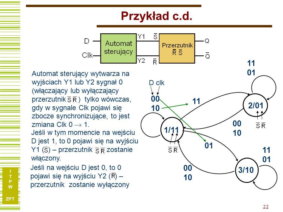 I T P W ZPT 22 Przykład c.d.