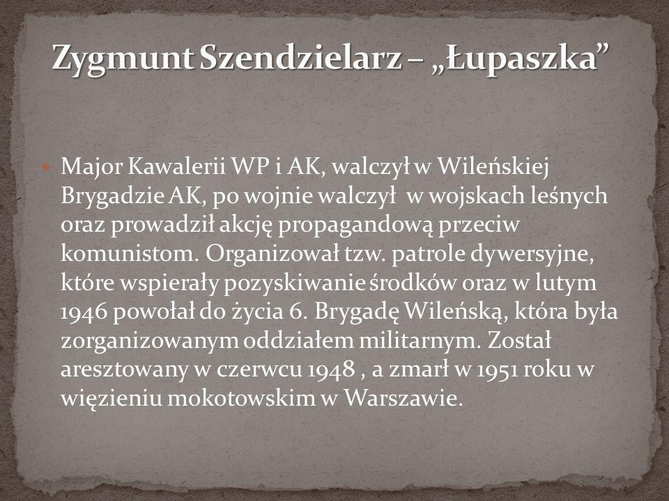 Major Kawalerii WP i AK, walczył w Wileńskiej Brygadzie AK, po wojnie walczył w wojskach leśnych oraz prowadził akcję propagandową przeciw komunistom.
