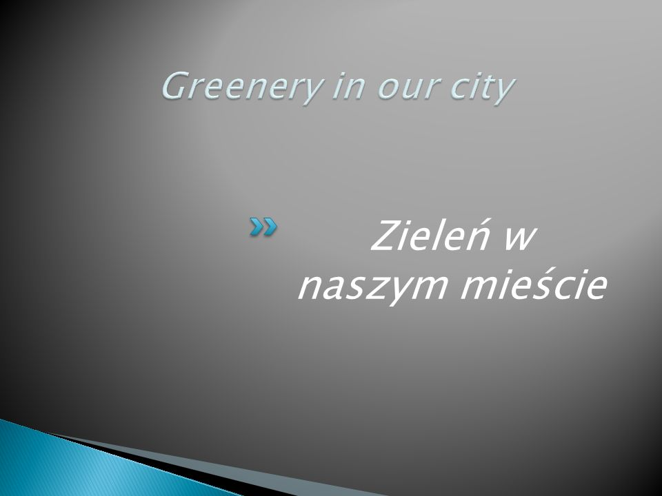 Zieleń w naszym mieście