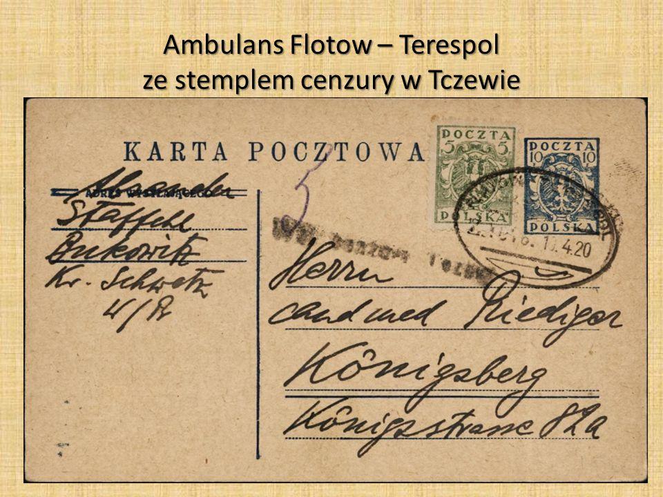 Ambulans Flotow – Terespol ze stemplem cenzury w Tczewie