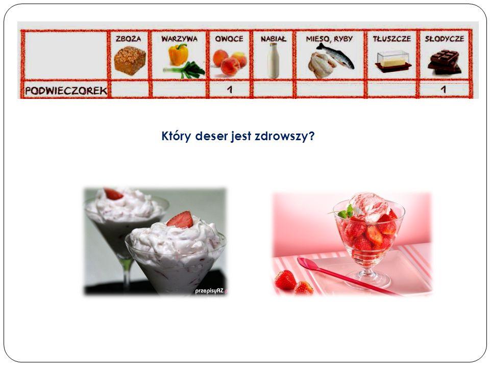 Który deser jest zdrowszy?