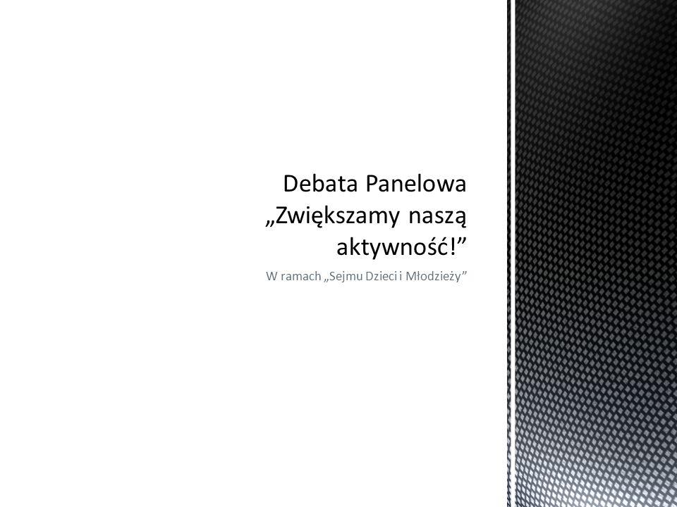 """W ramach """"Sejmu Dzieci i Młodzieży"""