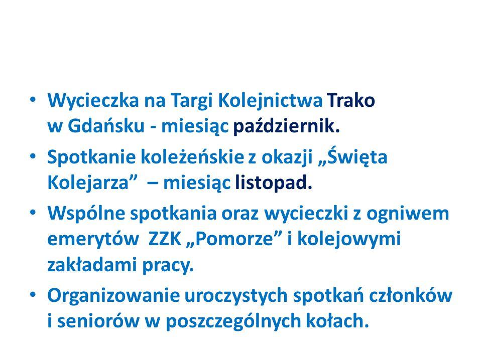 Wycieczka na Targi Kolejnictwa Trako w Gdańsku - miesiąc październik.
