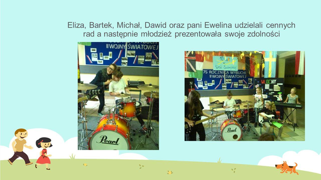 Eliza, Bartek, Michał, Dawid oraz pani Ewelina udzielali cennych rad a następnie młodzież prezentowała swoje zdolności