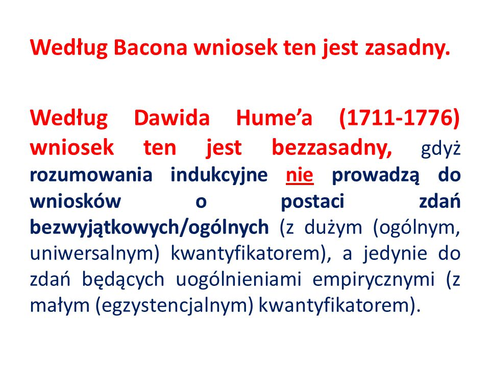 Według Bacona wniosek ten jest zasadny.