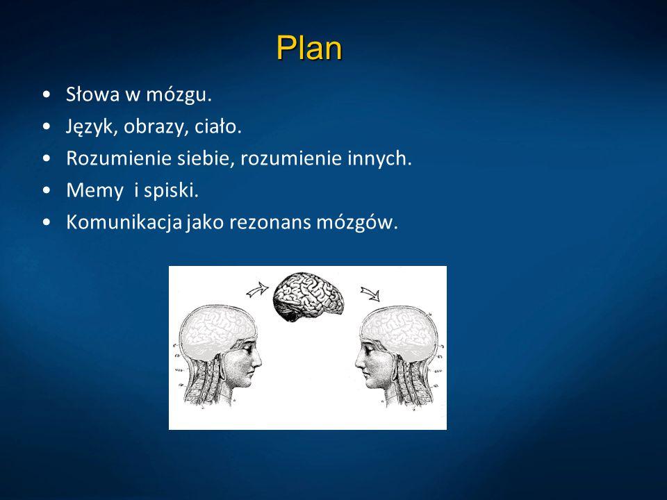 Plan Słowa w mózgu. Język, obrazy, ciało. Rozumienie siebie, rozumienie innych. Memy i spiski. Komunikacja jako rezonans mózgów.