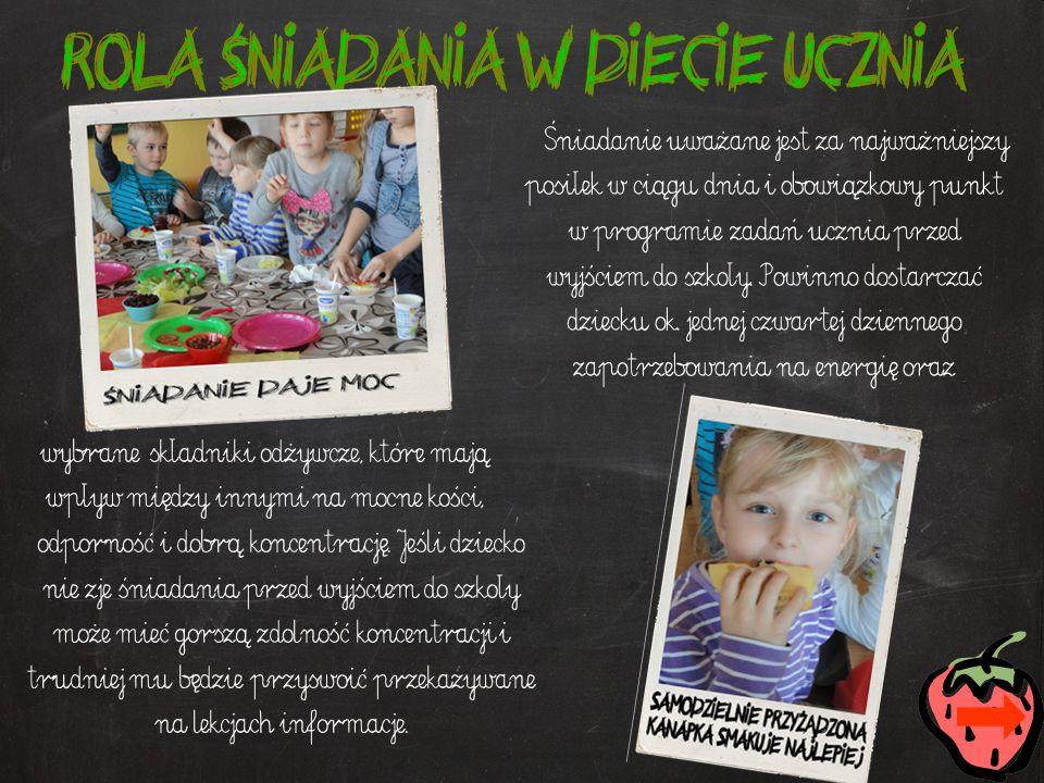 Dieta dziecka w wieku wczesnoszkolnym powinna być urozmaicona pod względem asortymentu produktów spożywczych, umiarkowana co do ilości spożywanych produktów i uregulowana.