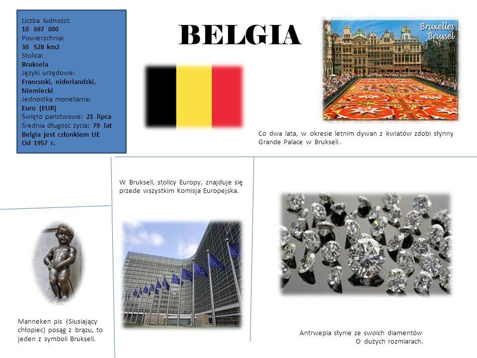HOLANDIA Liczba ludności: 16433 000 Powierzchnia: 41526 km2 Stolica: Amsterdam Język urzędowy: niderlandzki Jednostka monetarna: euro (EUR) Święto pań