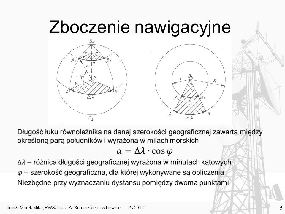 Urządzenia do pomiaru czasu Pomiar czasu (dokładny i ciągły) bardzo ważny w nawigacji zliczeniowej i astronawigacji Chronometry mechaniczne: –skomplikowane i drogie Zegary elektroniczne Systemy synchronizowane drogą radiową GPS – korygowany sygnałem satelitarnym wewnętrzny zegar kwarcowy © 2014dr inż.