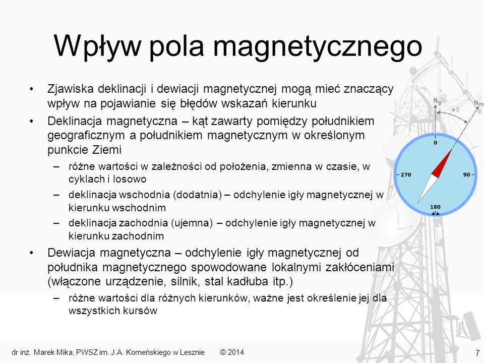 Zmienność deklinacji w czasie © 2014dr inż. Marek Mika, PWSZ im. J.A. Komeńskiego w Lesznie 8