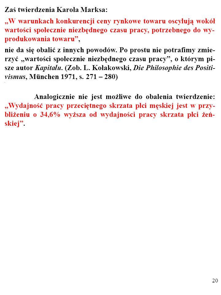 """19 Prawdziwość TAUTOLOGII wynika z definicji użytych nazw. Np., obserwacja nieustannie potwierdza tezę: """"Nie ulega wątpliwości, że (…) brak poczucia w"""