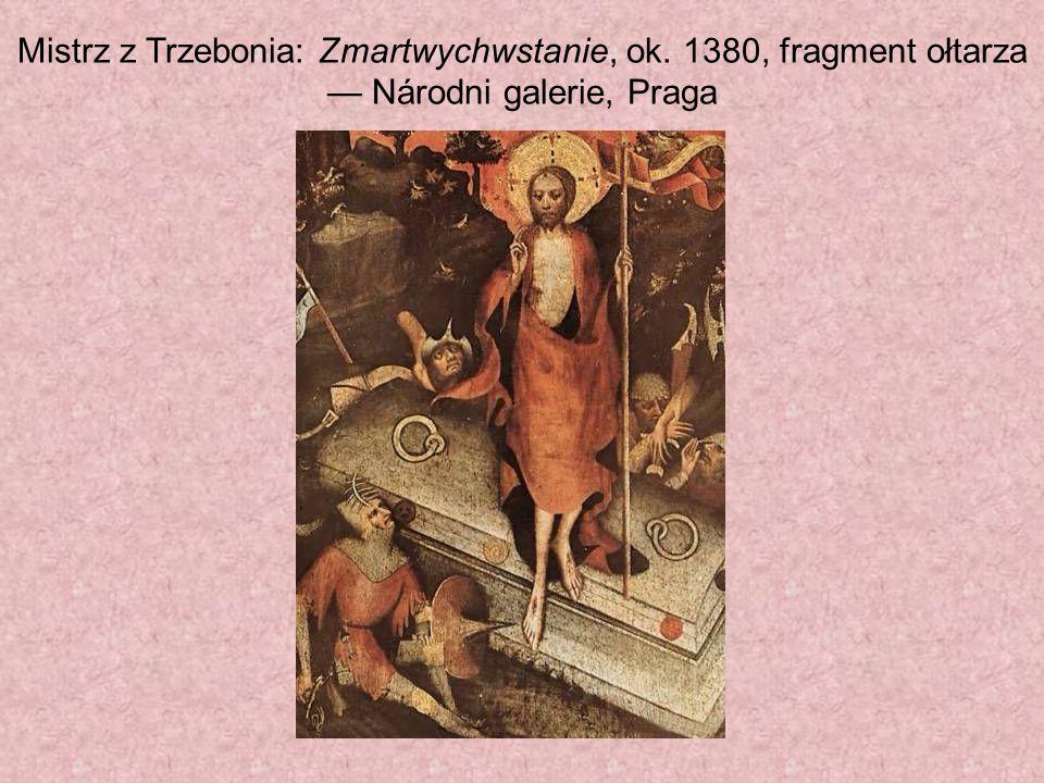 Mistrz z Trzebonia: Zmartwychwstanie, ok. 1380, fragment ołtarza — Národni galerie, Praga