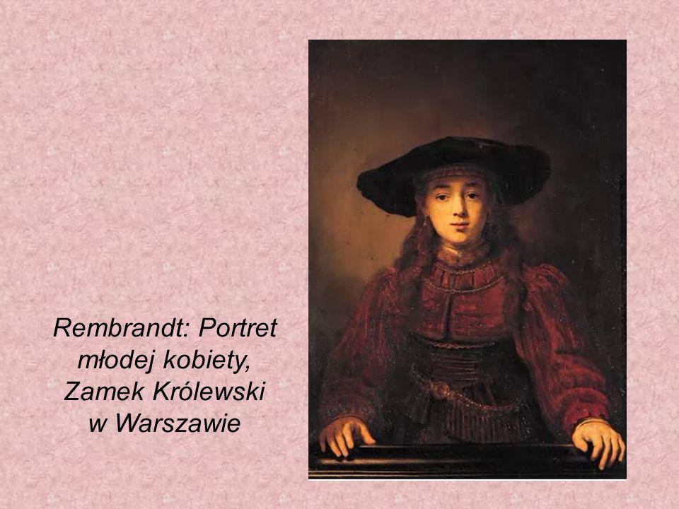 Rembrandt: Portret młodej kobiety, Zamek Królewski w Warszawie