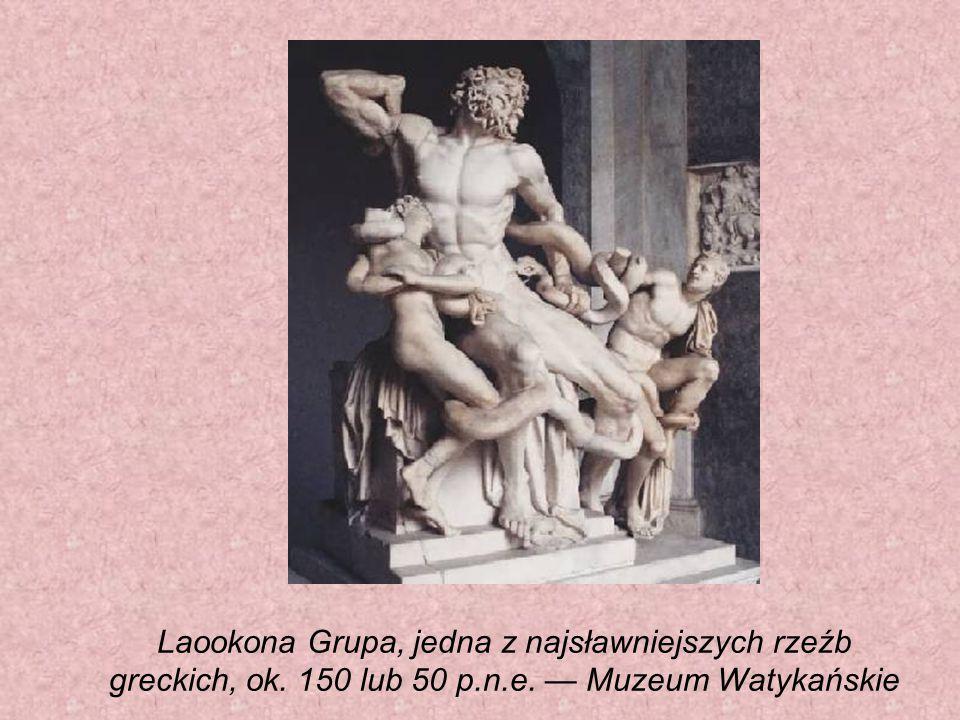 Laookona Grupa, jedna z najsławniejszych rzeźb greckich, ok. 150 lub 50 p.n.e. — Muzeum Watykańskie