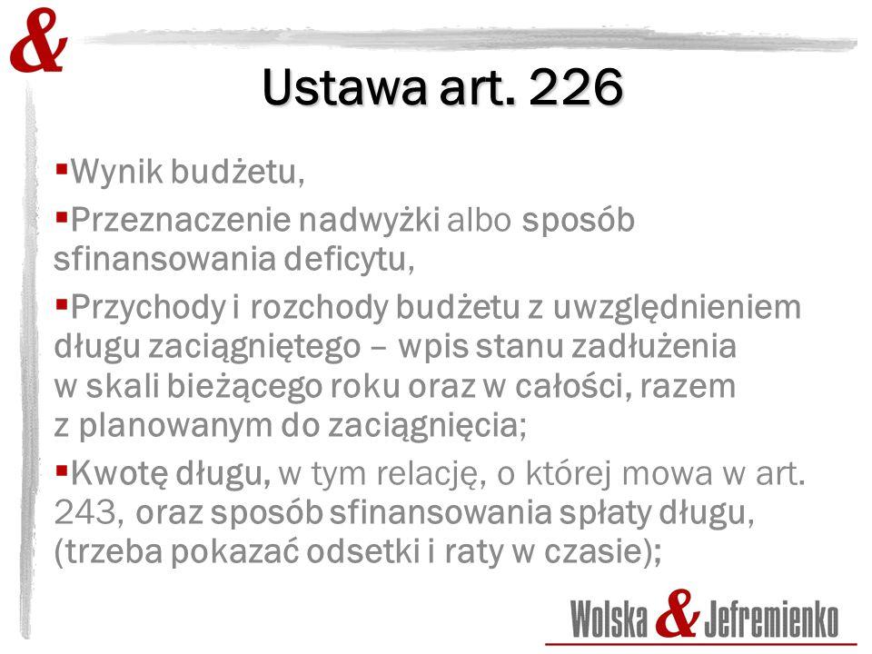 Ustawa art.226 Objaśnienia.