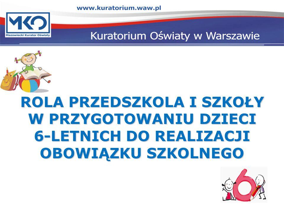 Tematyka spotkania Tematyka spotkania: 1.Wprowadzenie – informacja o działaniach MEN dotyczących przygotowania szkół do przyjęcia dzieci 6-letnich.