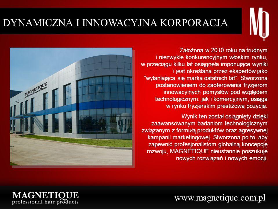 DYNAMICZNA I PEWNA KORPORACJA DYNAMICZNA I INNOWACYJNA KORPORACJA Założona w 2010 roku na trudnym i niezwykle konkurencyjnym włoskim rynku, w przeciąg