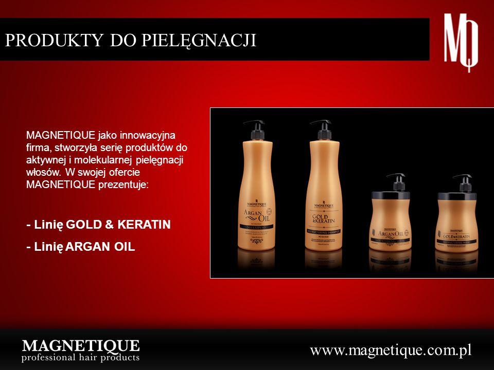 www.magnetique.com.pl PRODUKTY DO PIELĘGNACJI MAGNETIQUE jako innowacyjna firma, stworzyła serię produktów do aktywnej i molekularnej pielęgnacji włos