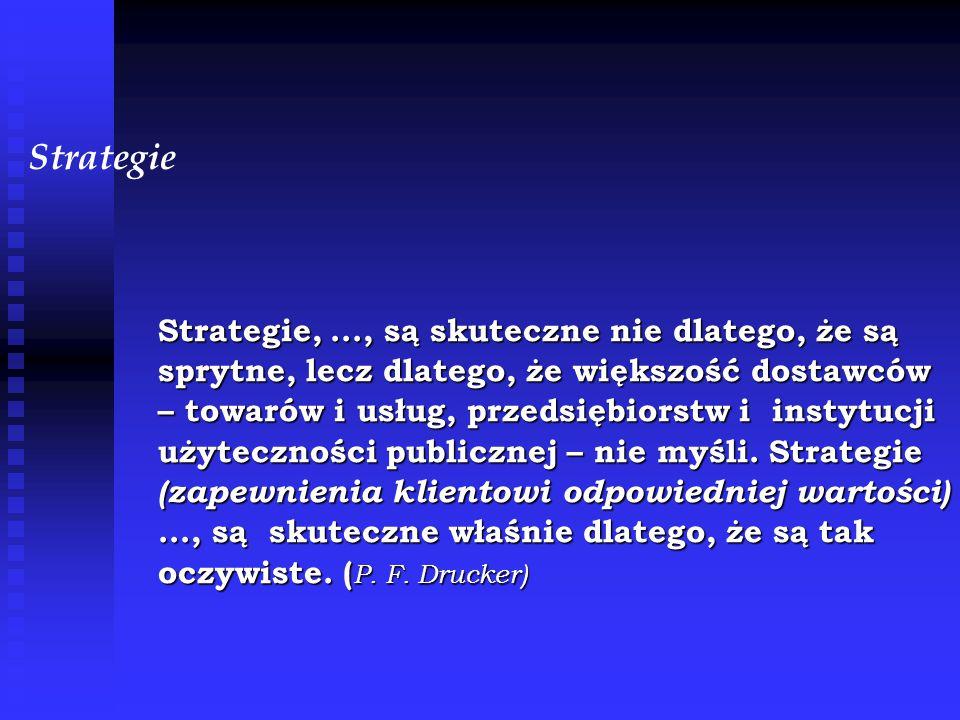 Strategie Strategie,..., są skuteczne nie dlatego, że są sprytne, lecz dlatego, że większość dostawców – towarów i usług, przedsiębiorstw i instytucji użyteczności publicznej – nie myśli.