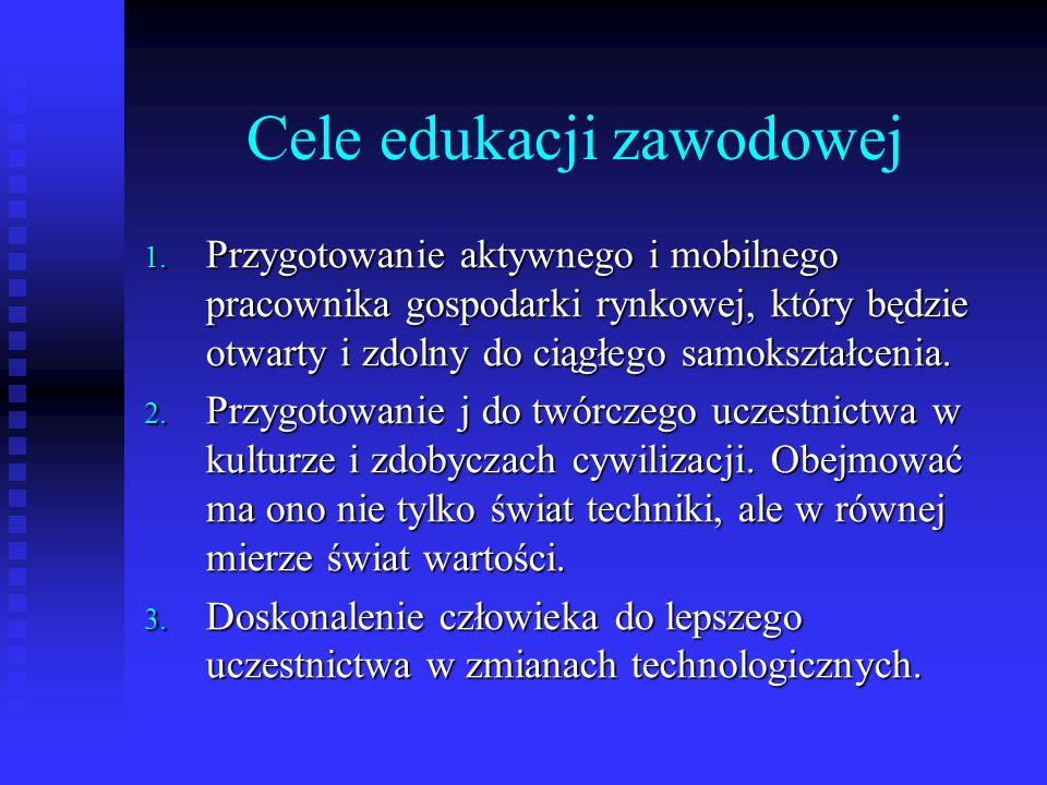 Cele edukacji zawodowej 1.